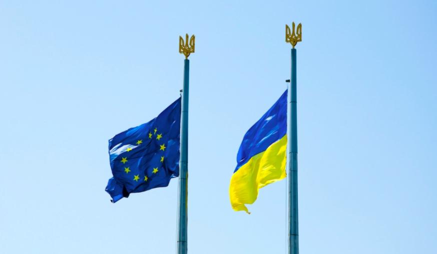 Flags EU-Ukraine